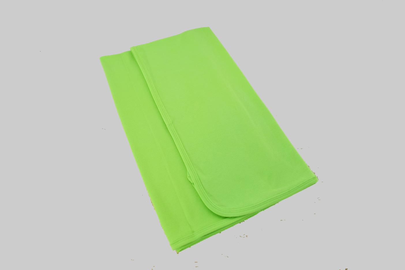 Bright Green Receiving Blanket