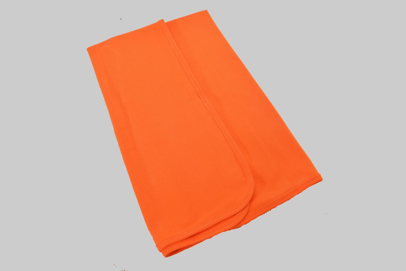 Exotic Orange Receiving Blanket
