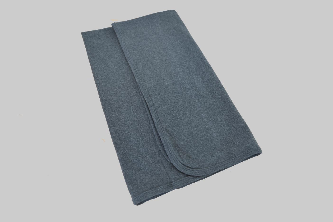 Dark Gray Receiving Blanket