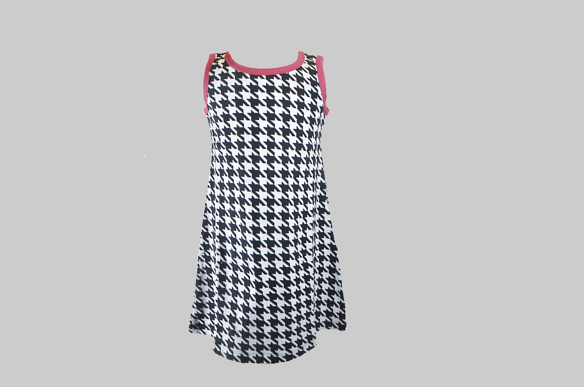 Houndstooth A Line Dress
