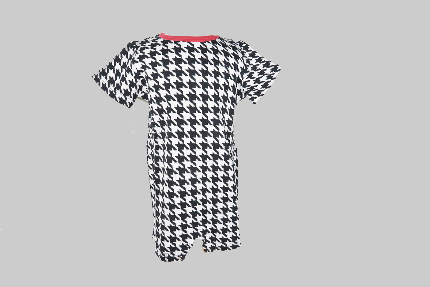 houndstooth baby romper with legs