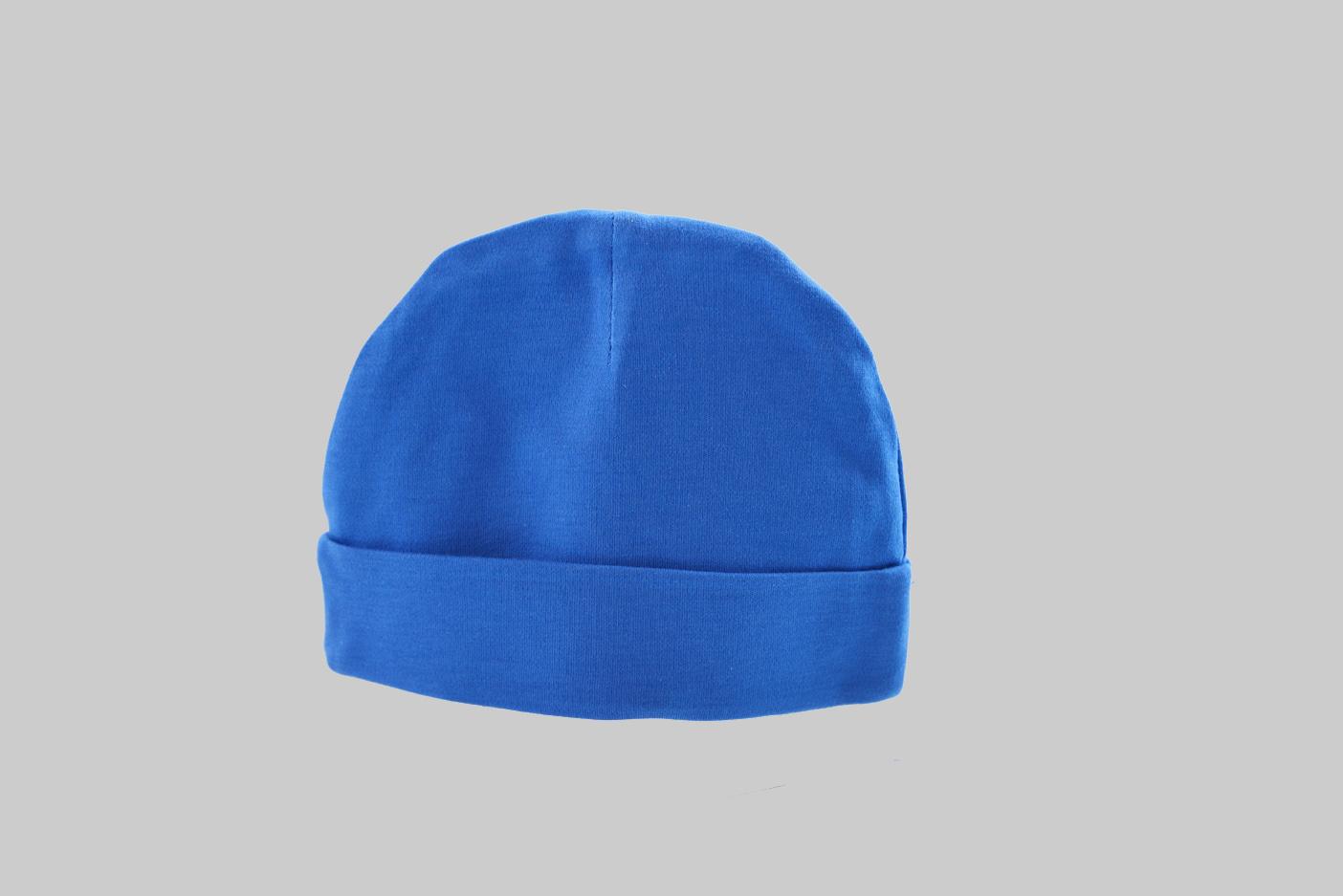 Royal Blue color baby cap