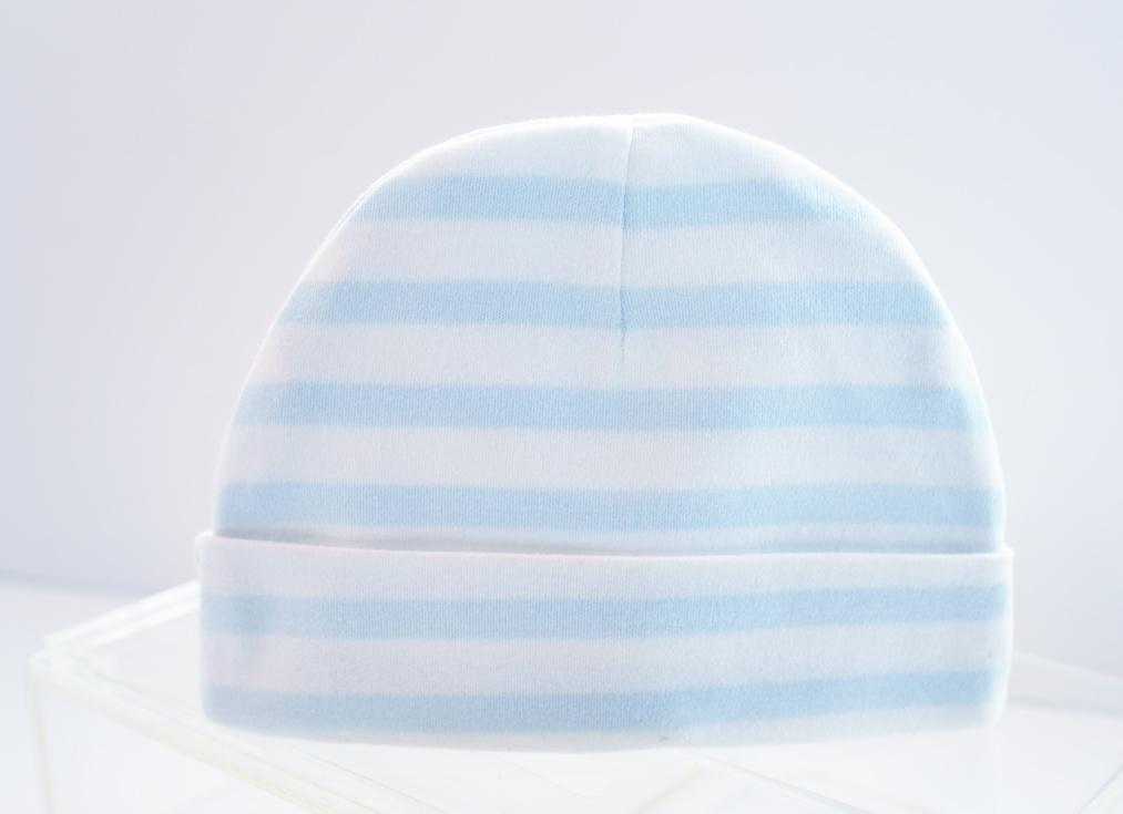 Baby Cap Baby Blue Stripes