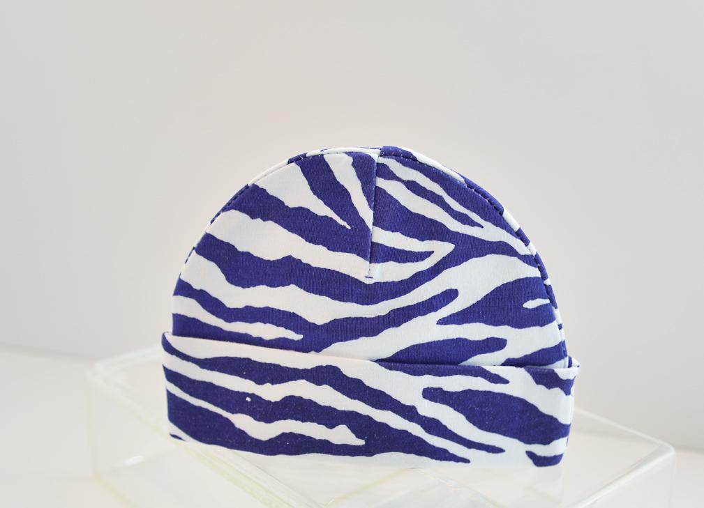 baby cap purole zebra print