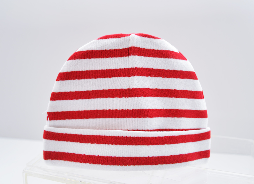 Baby Cap Red Color Stripes