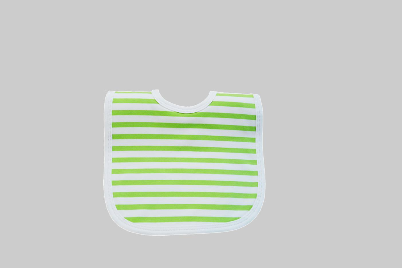 Woven Bright Lime Green Baby bIb