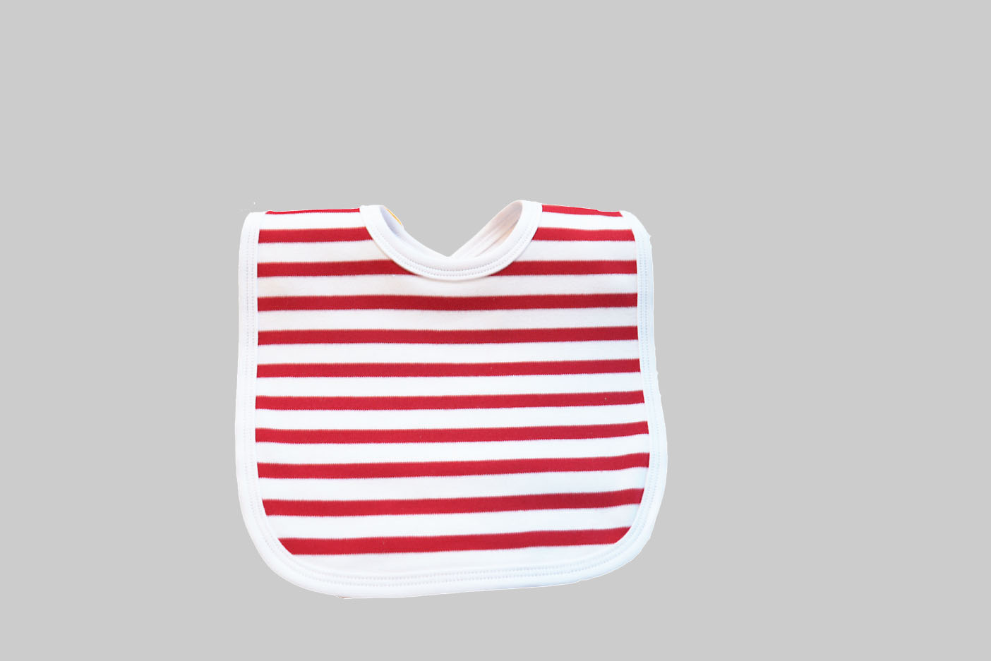 Woven Red Stripes Baby Bib
