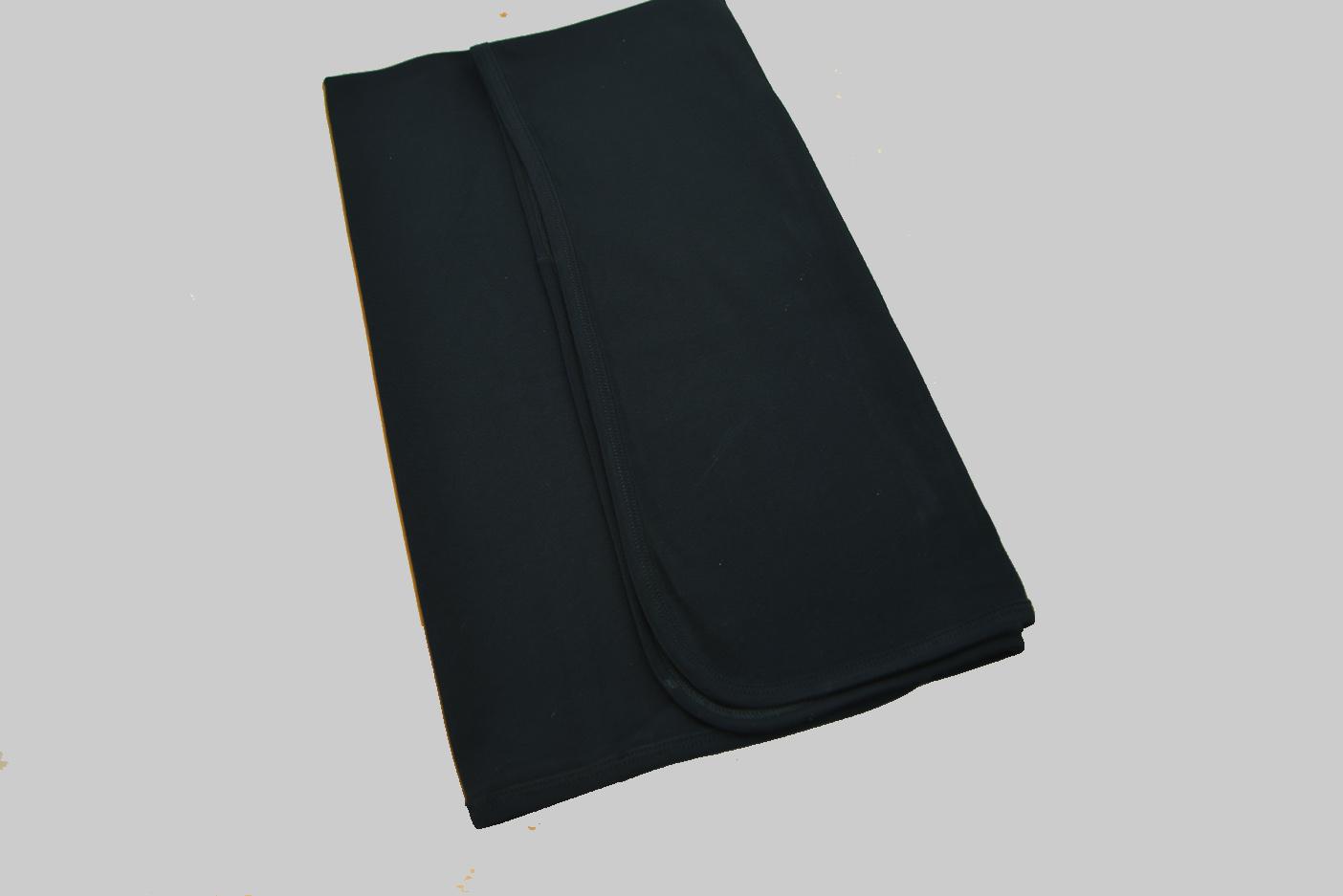 Black Receiving Blanket