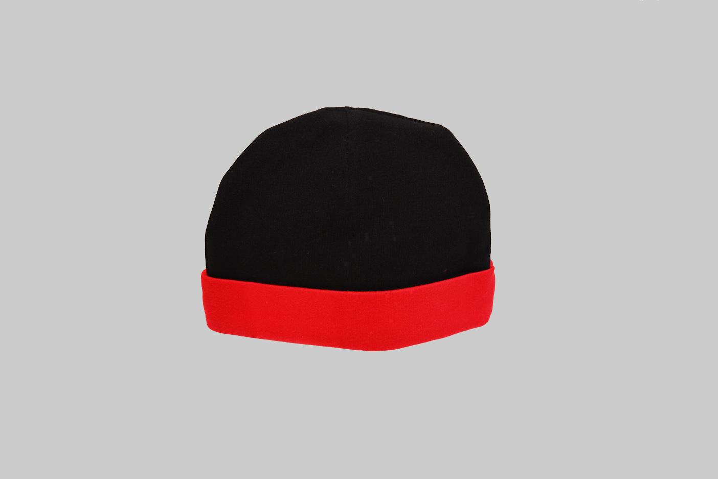 red & black baby cap