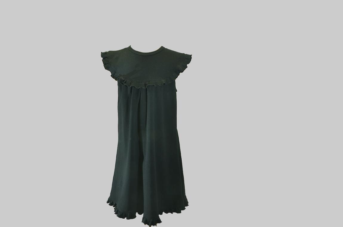 black sleeveless toddler dress