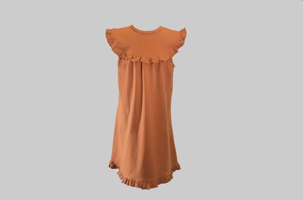 Burnt Orange Sleeveless Toddler Dress