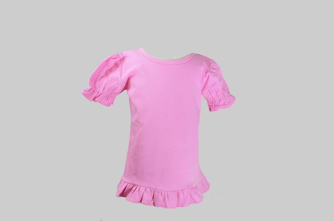 candy pink toddler girl ruffle shirt