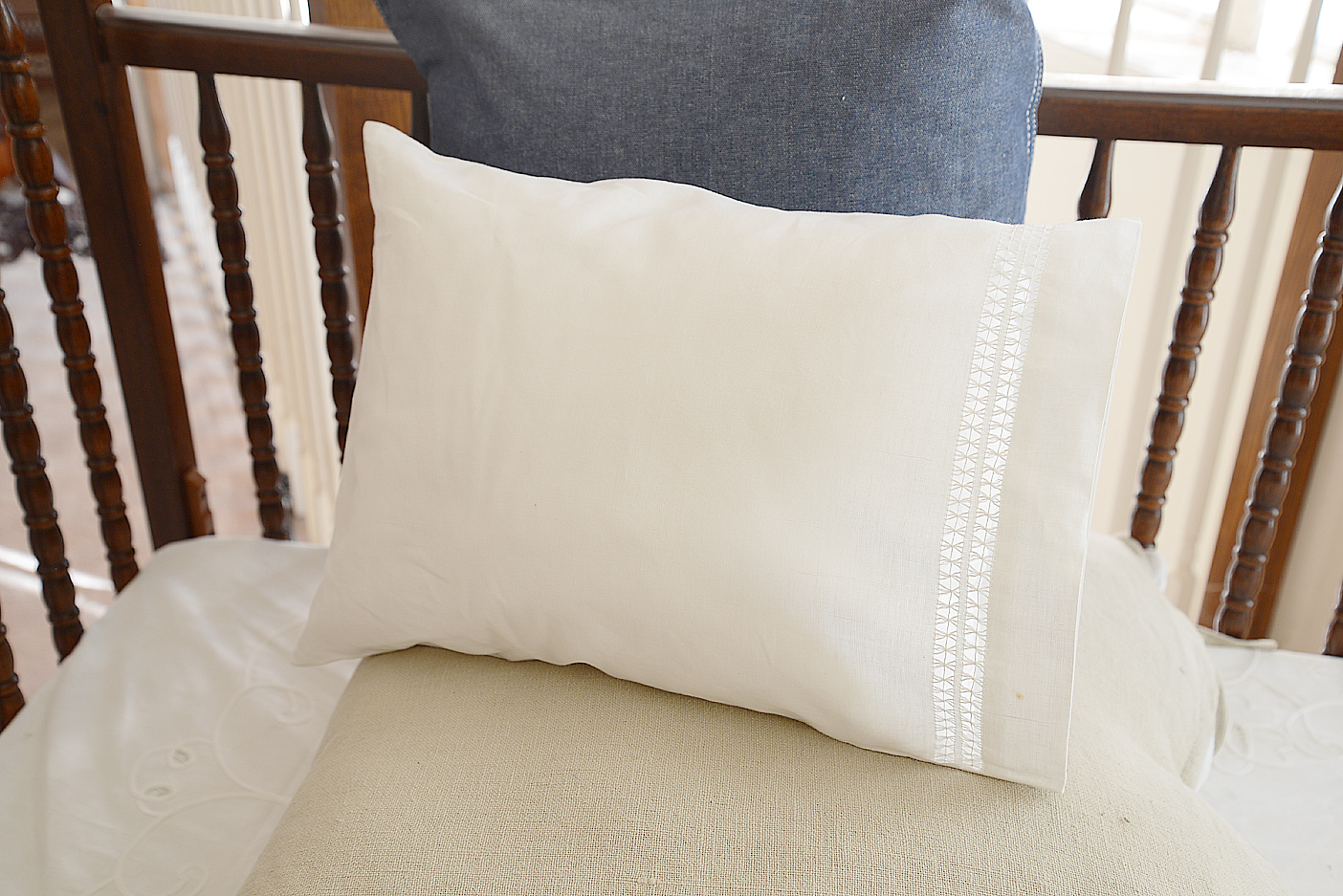 double twisted hemstitch baby pillowcases