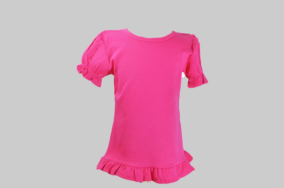Fuchsia Rose Toddler Ruffle shirt