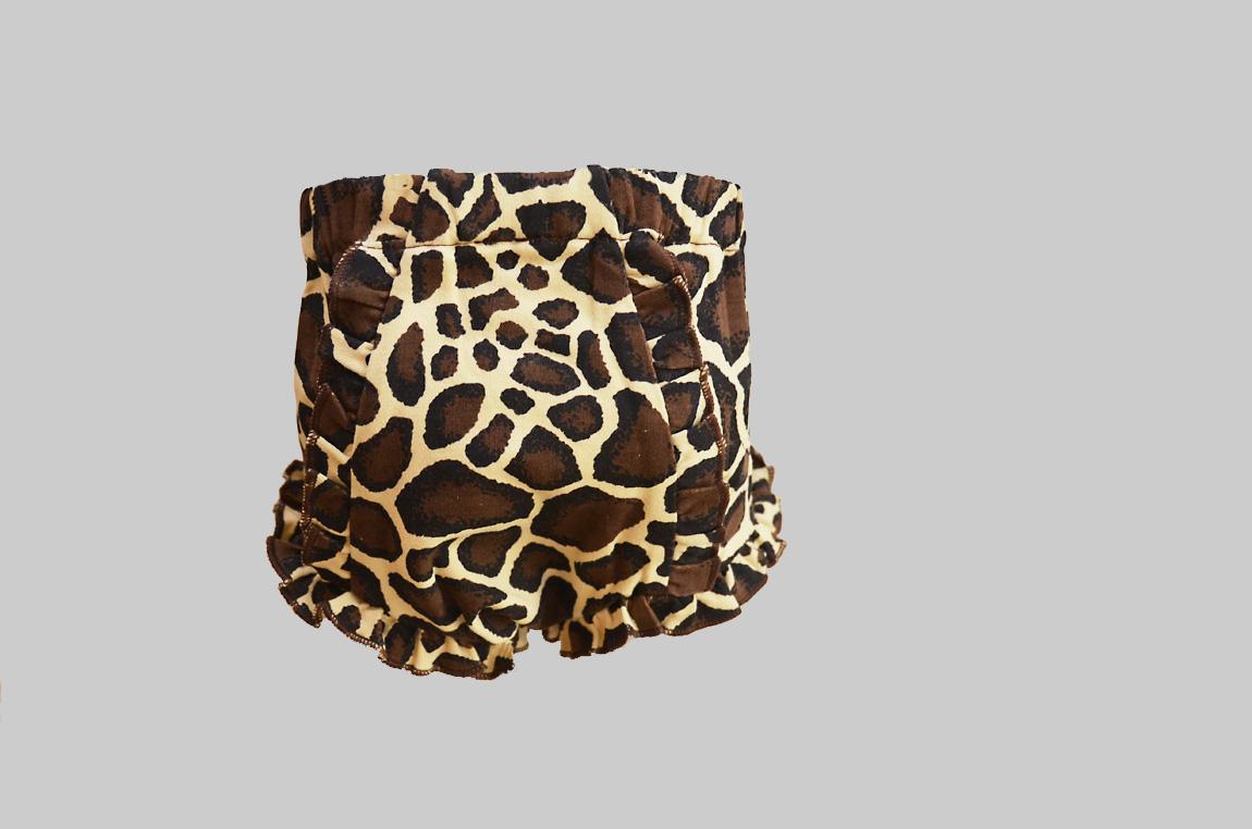 Giraffe Print Baby Bloomer