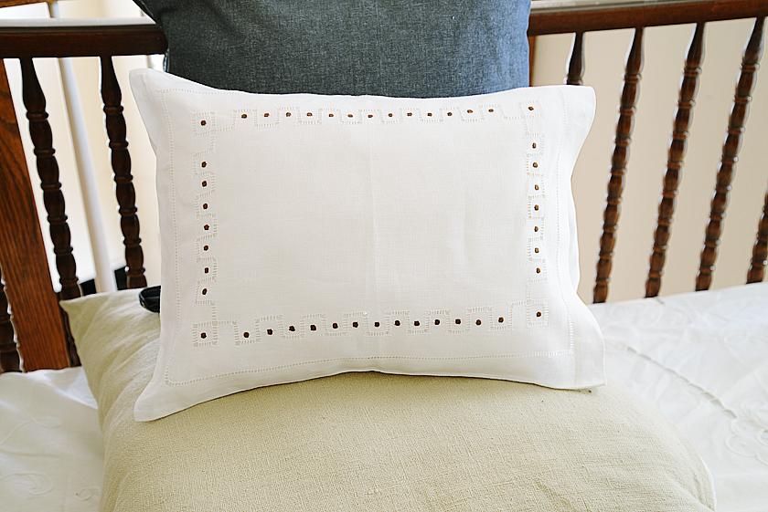 hemstitch brown Polka dots Baby Pillowcases