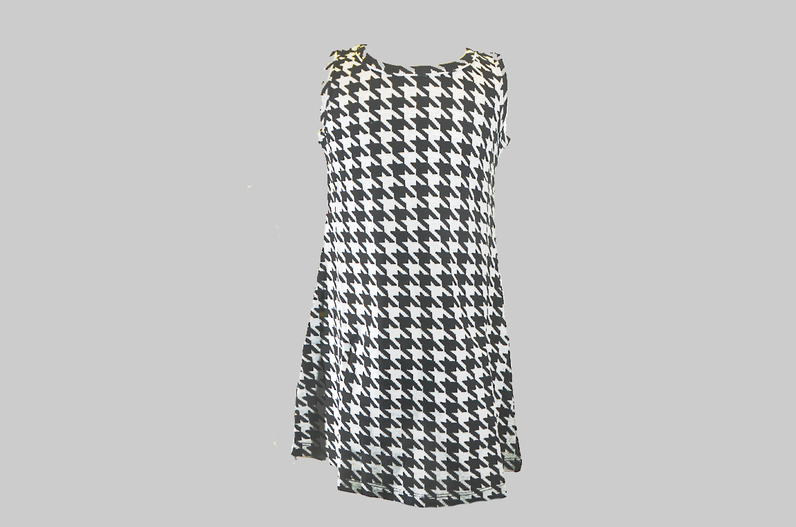 Houndstooth A Line dress. Toddler