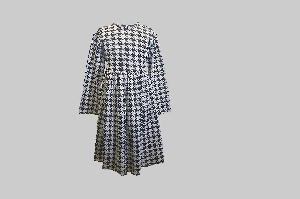 Houndstooth Dress. Toddler Size. Wait Tie Back