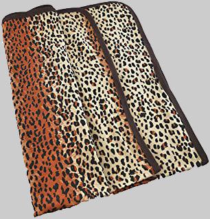 leopard skin receiving blanket