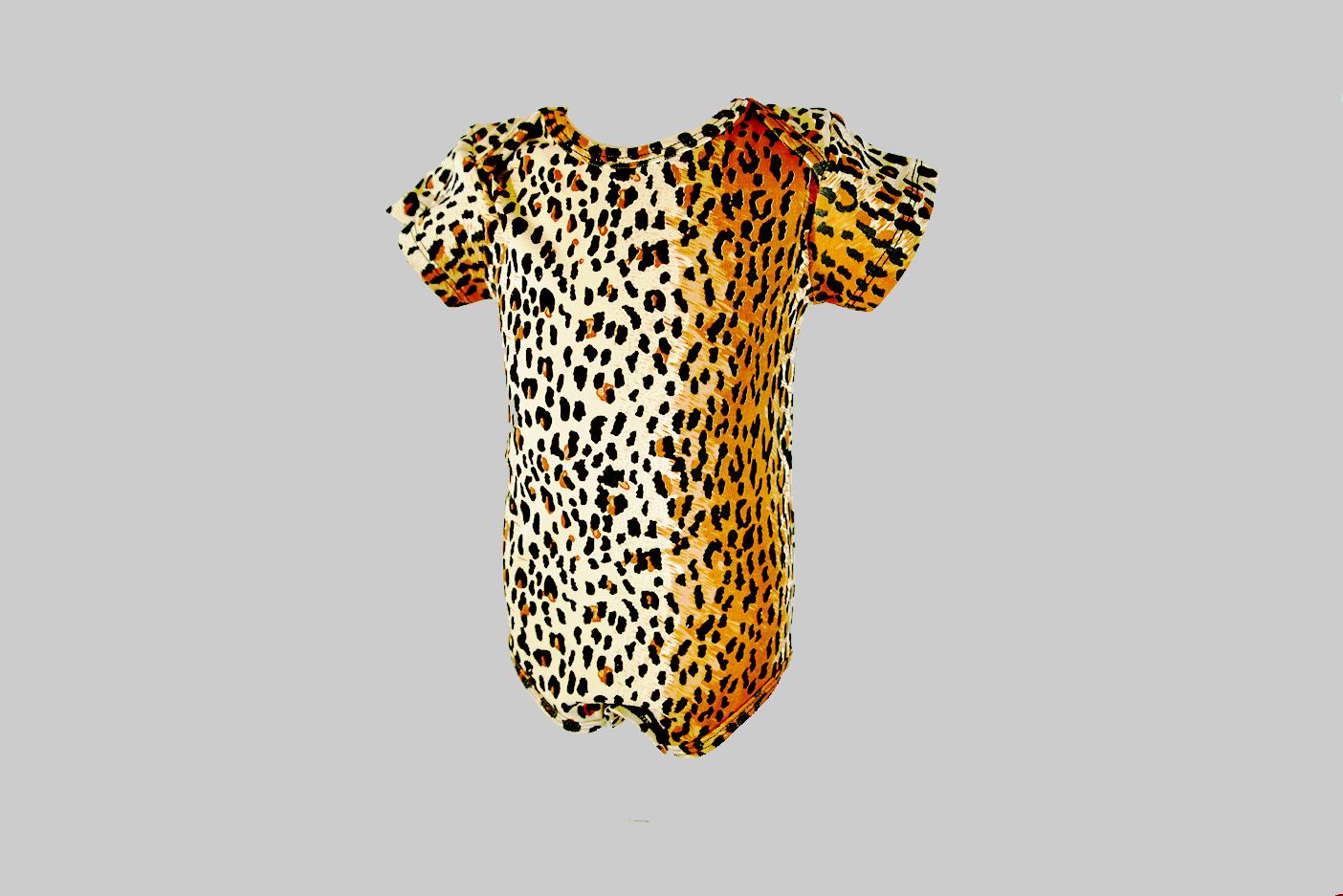 leopard print baby jumpsuit