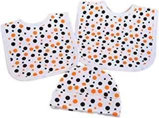 Halloween Orange & Black baby bibs