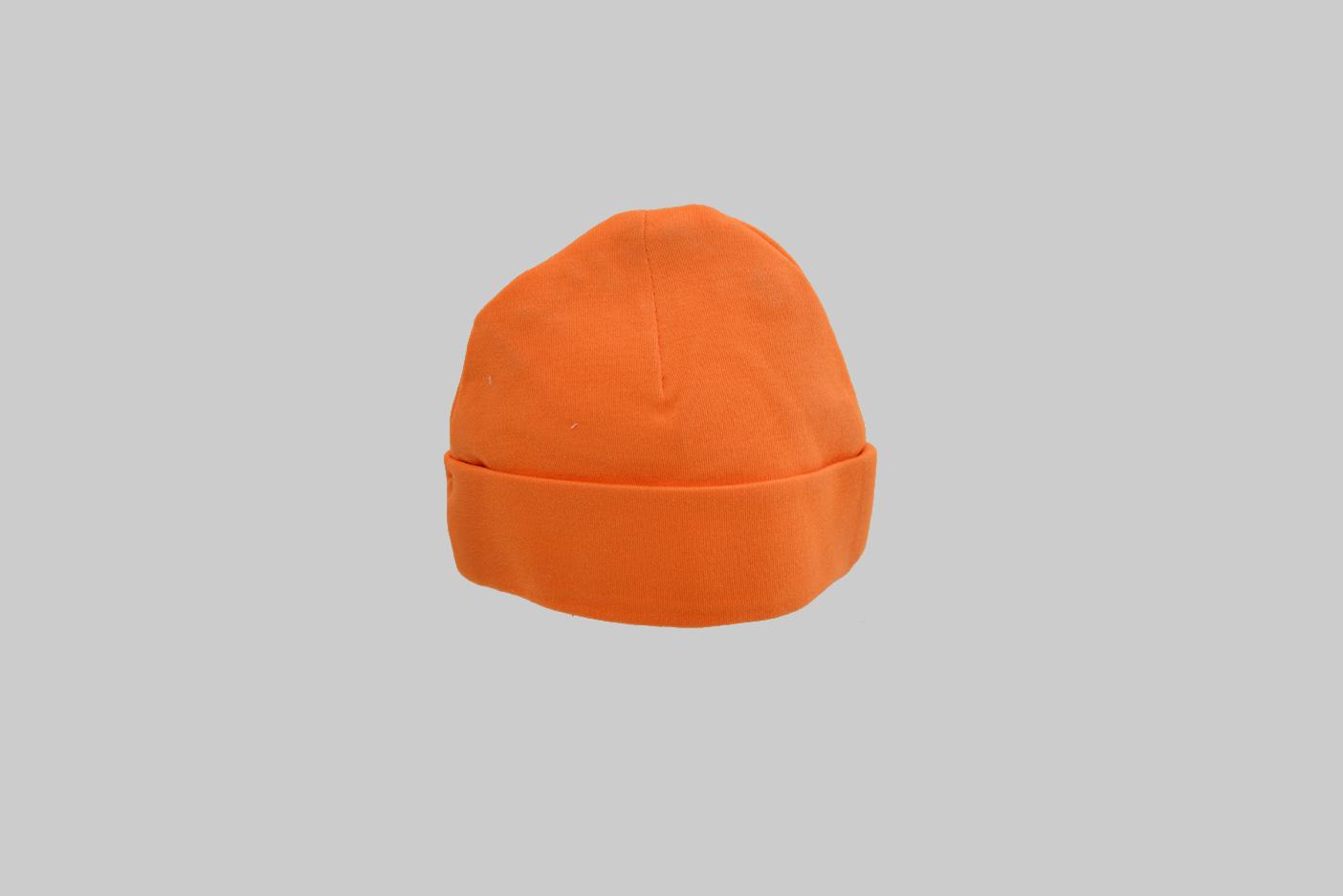 orange color baby cap