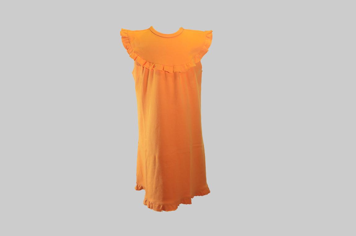 Orange Sleeveless Toddler Dress