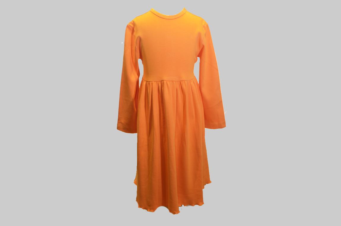 Orange color, Toddler Girl Dress