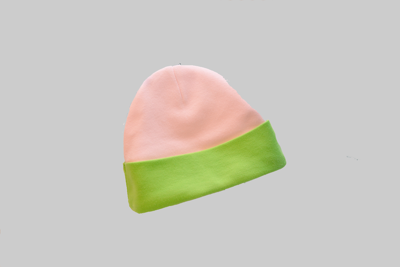 Pink & Green color baby cap