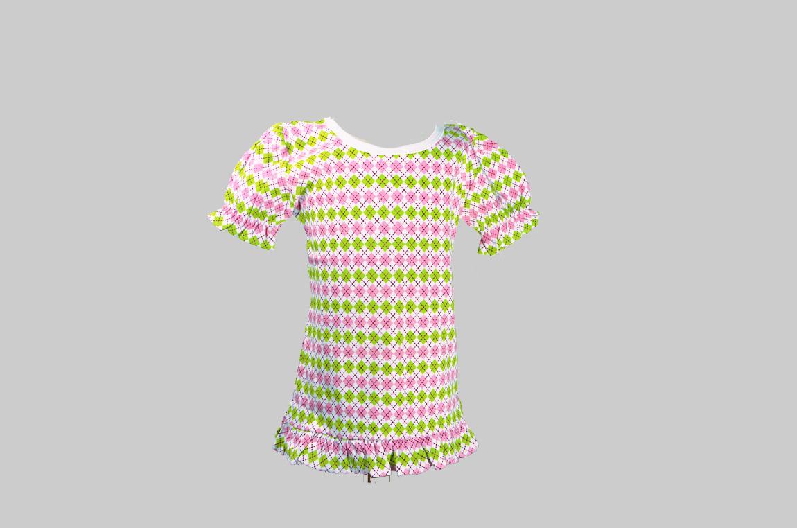 Aryle Toddler Girl Ruffle Tee Shirt