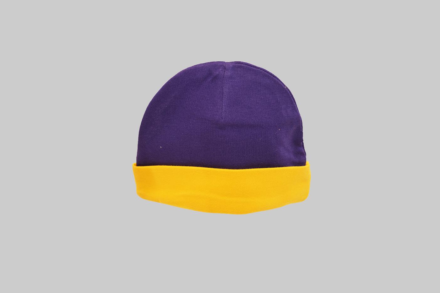 Purple & Gold Color Baby Cap