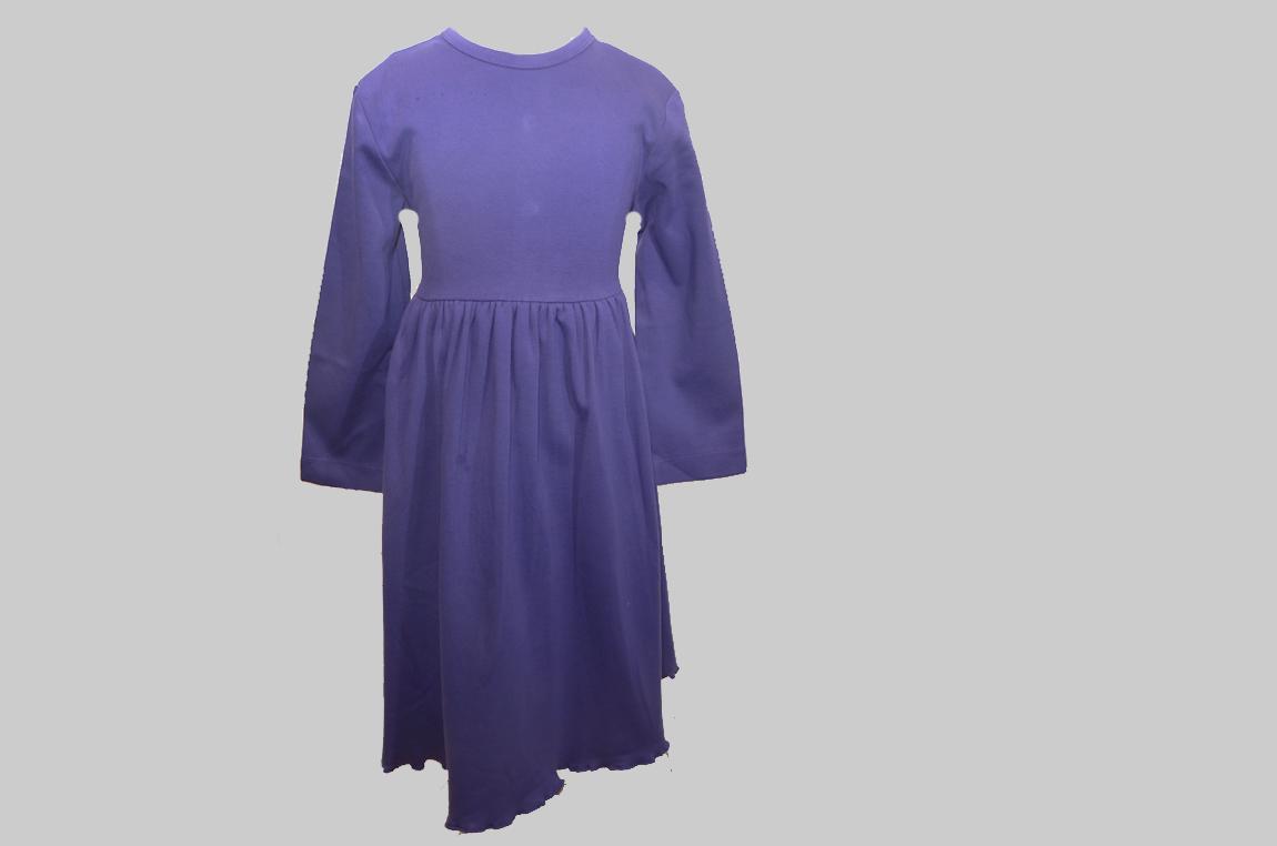 Purple color toddler dress. Waist Line Tie Back