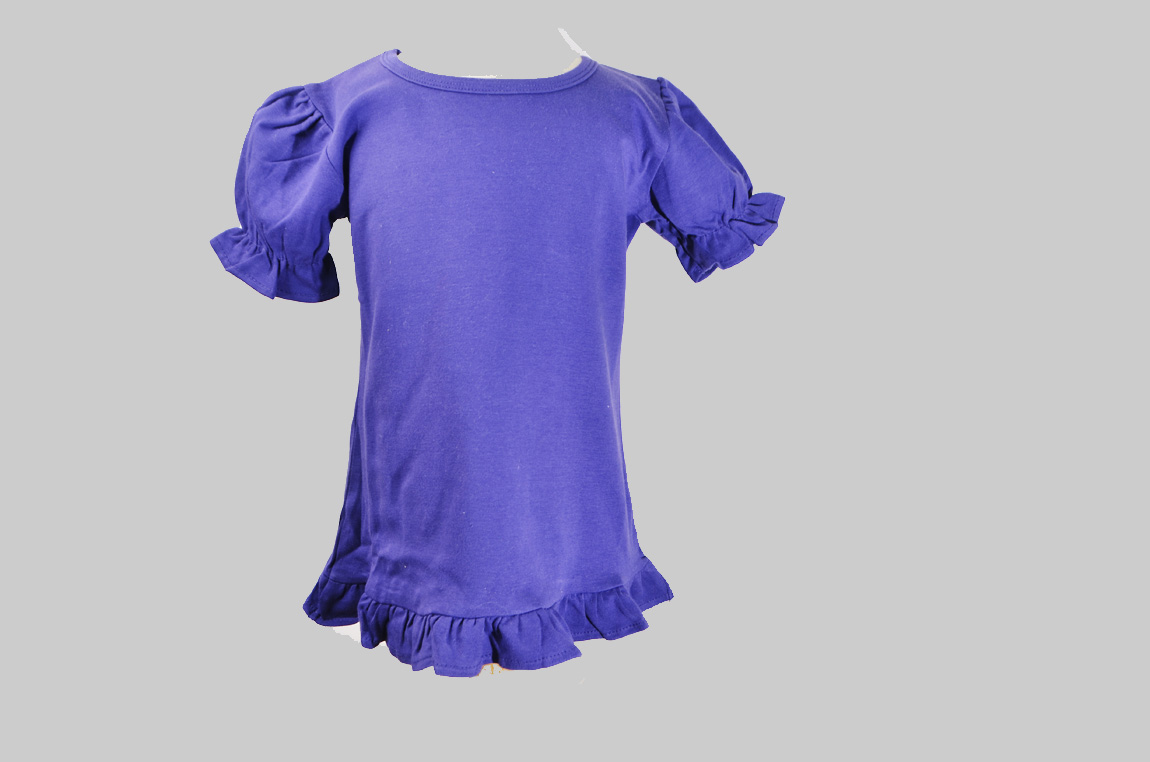purple color toddler girl ruffle shiet