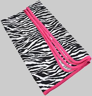 zebra print receiving blanket
