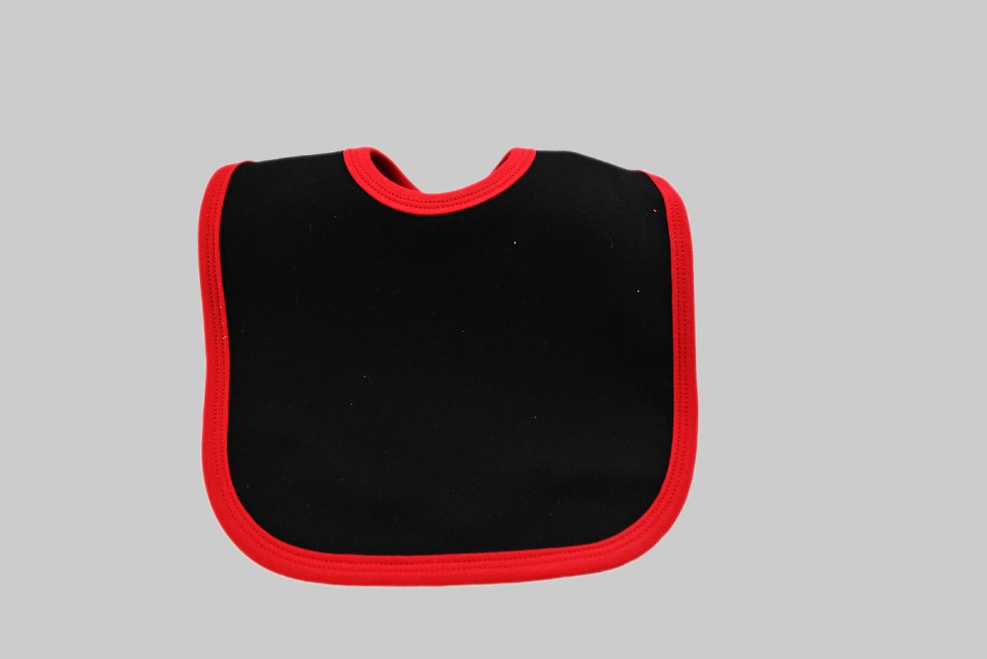 Red & Black Color Baby Bibs