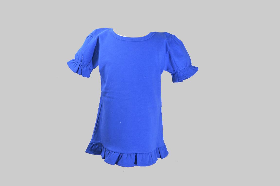 Royal Blue Toddler Ruffle Shirt