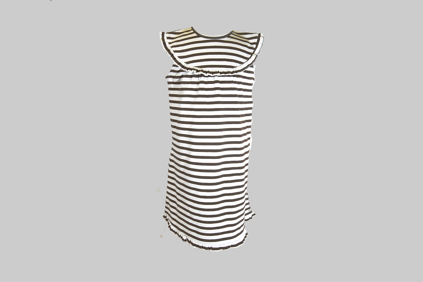 Brown color Stripe Toddler Girl Dress