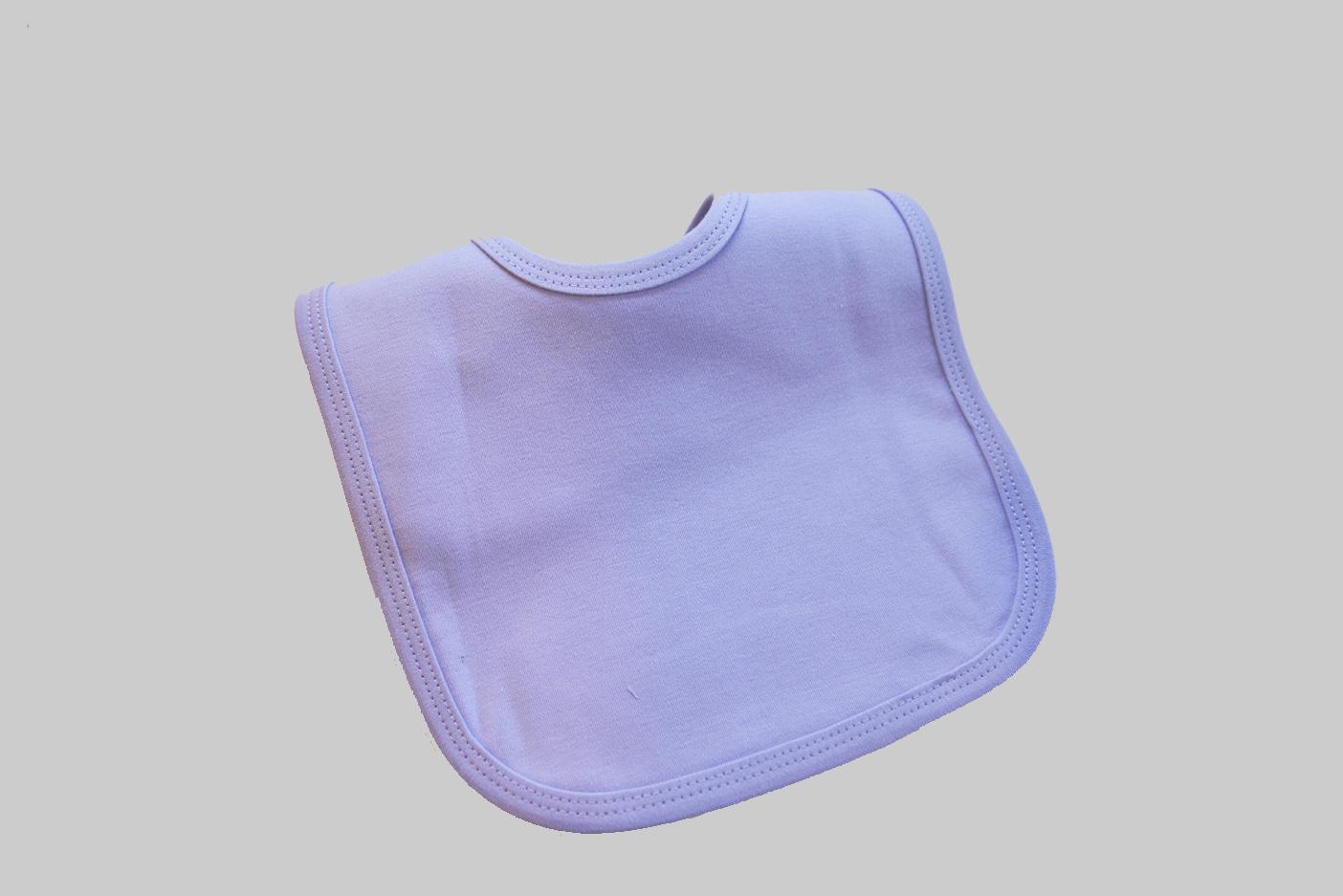 Lavender color baby bib