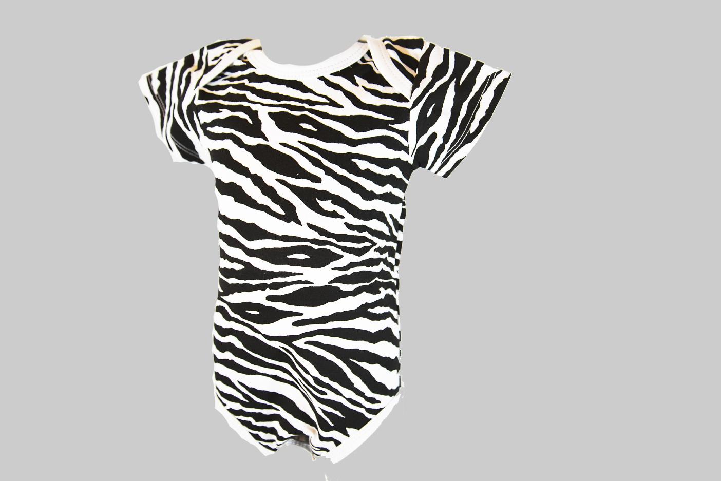 Zebra Print Baby Jumpsuit