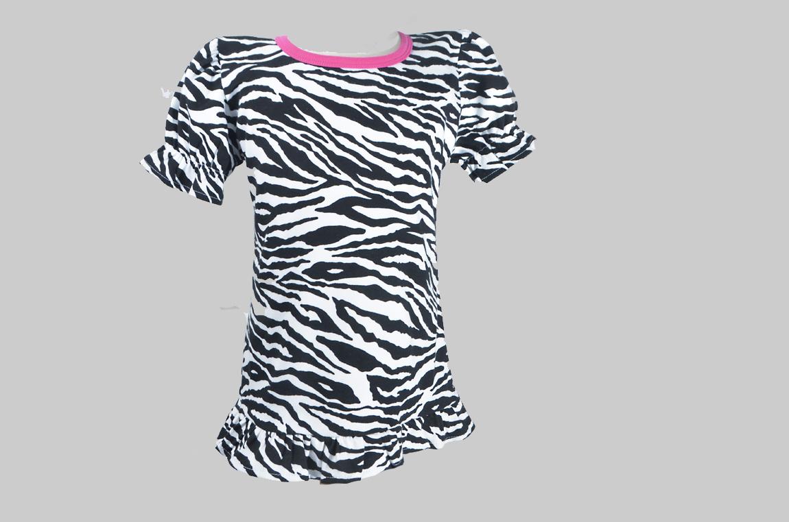 zebra & fuchsia trim ruffled shirts